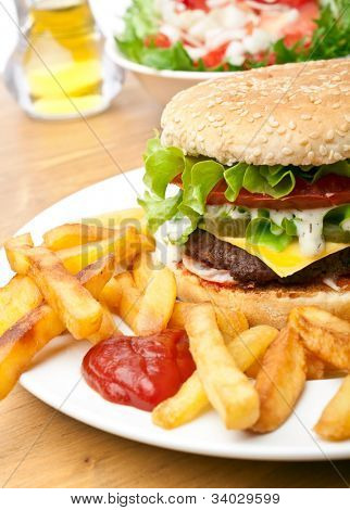 big tasty cheeseburger