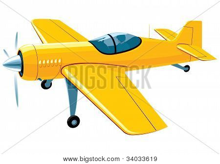 Flying sport airplane