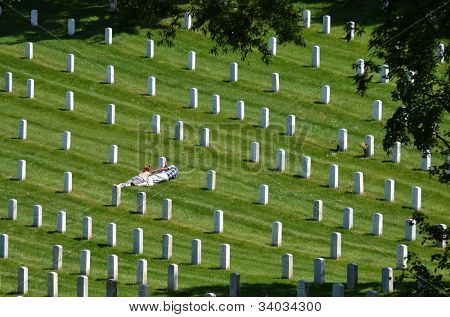Washington DC - Mourning in Arlington National Cemetery