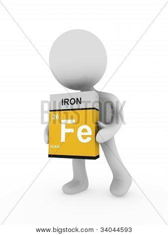 3D Man Carry A Iron Box