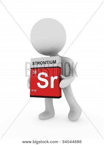 3D Man Carry A Strontium Box