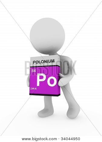 3D Man Carry A Polonium Box