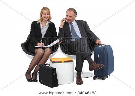 A couple on a businesstrip.