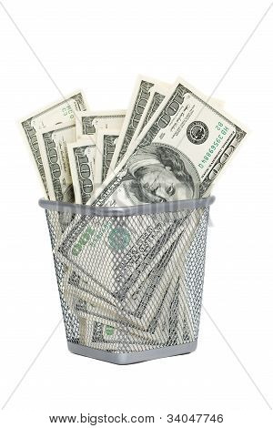 dollars in basket