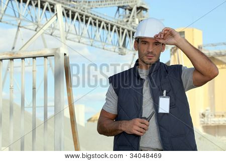 Foreman overseeing construction