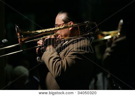 MADISON, NJ - JUNE 16: Steve Turre performs with his Quartet at Shanghai Jazz on June 16, 2012 in Madison, NJ. profile