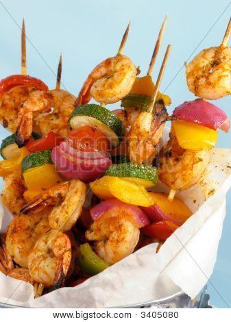 Shrimp & Vegetable Kebabs
