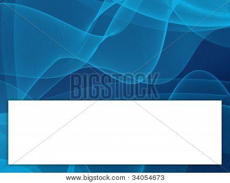 Blue wave design illustration.