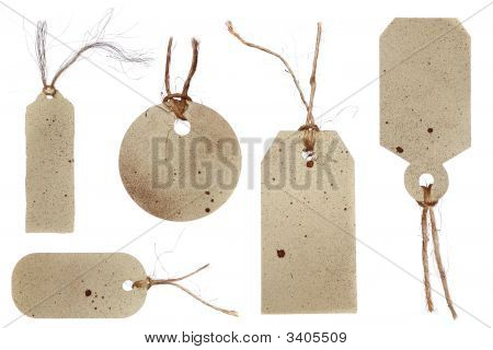 Grunge Style Tags For Gifts, Price, Or Scrapbooking