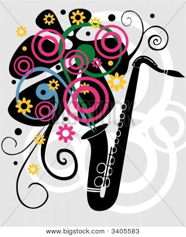 Black Sax With Elements
