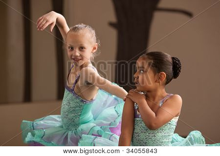 Ballet Students Helping Each Other