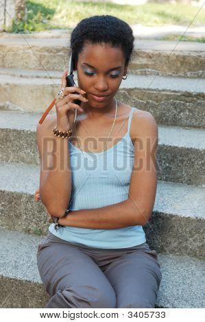 Girl On Her Cellphone