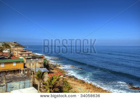 Shanty's along the Caribbean coast of San Juan, Puerto Rico
