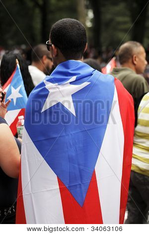 NEW YORK CITY, USA - JUNE 10: The annual Puerto Rican Day Parade in NYC honoring the inhabitants of Puerto Rico and all people of Puerto Rican birth or heritage. June 10, 2012 in New York City, USA