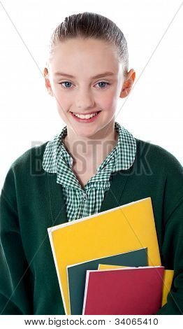 Close Up Of A Smiling School Girl