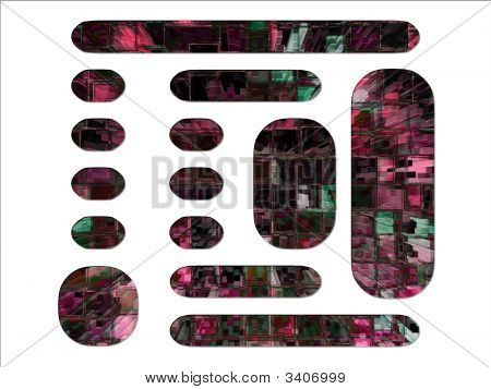 Digital High Rise Buildings Abstract Block Website Layout Design