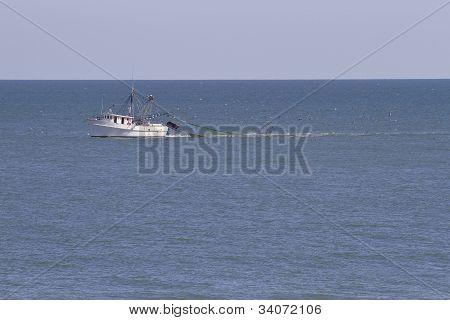 Trawler Dragging Nets