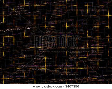 Orange And Yellow Programming Code Background Texture