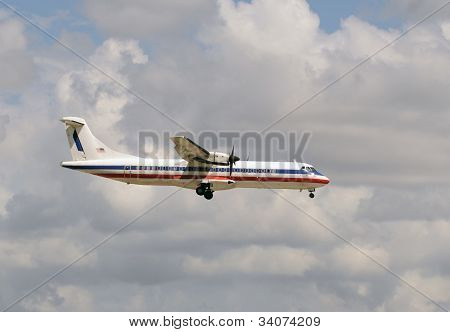 Propeller Airplane Side View