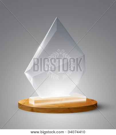 vector glass trophy