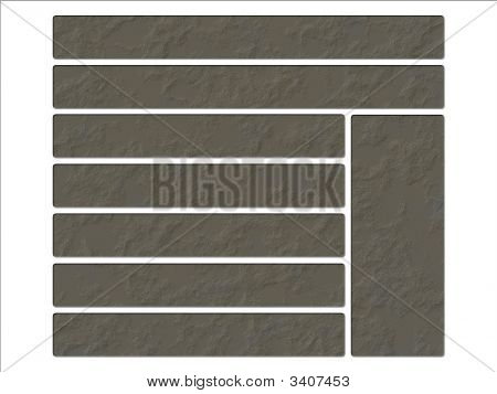 Spackle Plaster Textured Background Stone Website Navigation Layout Buttons