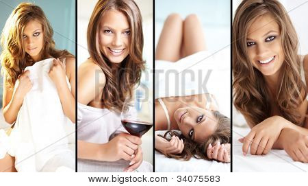 Posh young woman posing in front of camera