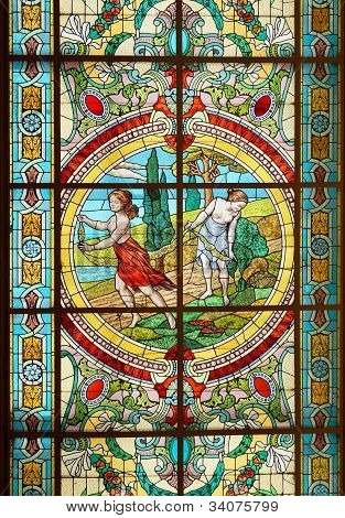 Stained Glass Window, Colon Theater, Buenos Aires, Argentina