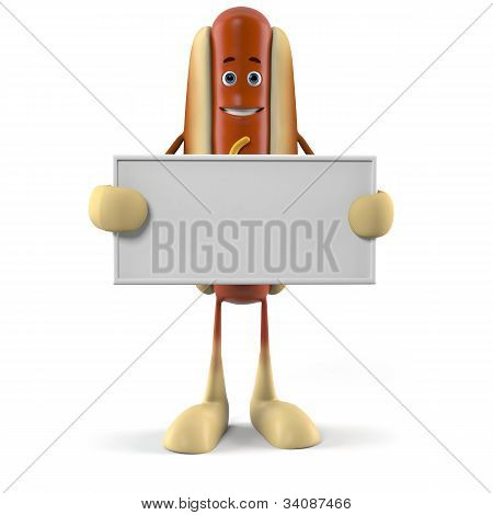 Food character - hot dog