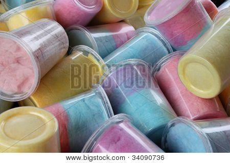 Cotton candy in jars
