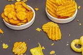 Assorted Salty Spiced Snacks. poster