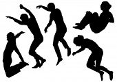 picture of parkour  - Vector image of people involved in parkour - JPG