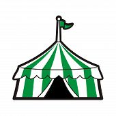 stock photo of circus tent  - Line drawing illustration of a circus tent - JPG
