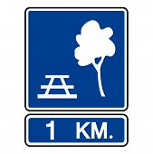 Roadside Accommodation Symbol Sign, Vector Illustration, Isolate On White Background Label. Eps10 poster