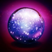 stock photo of sorcerer  - Crystal Ball with lights - JPG