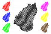 Guidimaka Region (regions Of Mauritania, Islamic Republic Of Mauritania) Map Vector Illustration, Sc poster