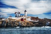 The Cape Neddick Nubble Lighthouse Is A Lighthouse In Cape Neddick, York County, Maine, United State poster