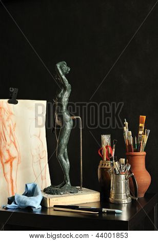 art studio still life