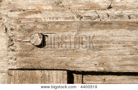 A Closeup Of An Old Wooden Frame