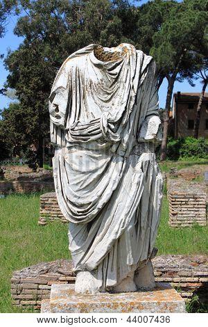 Beheaded statue of a Roman Senator