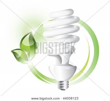 Fluorescent lightbulb with plant