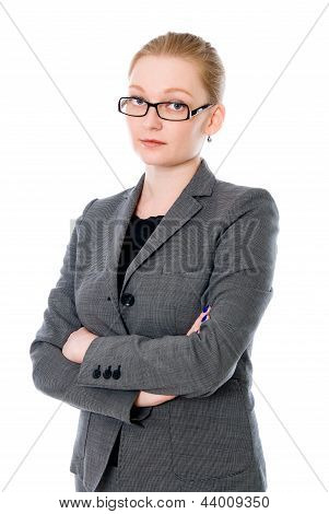Portrait Of Beautiful Young Business Woman