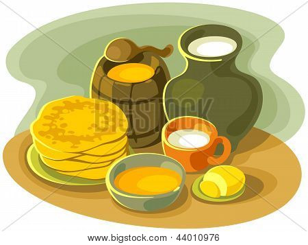Stillife with pancakes