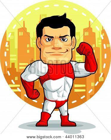 Cartoon Of Superhero