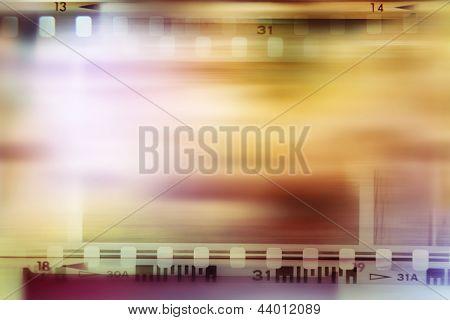 Film negative frames, advertising copy space