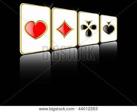 Vector play card set