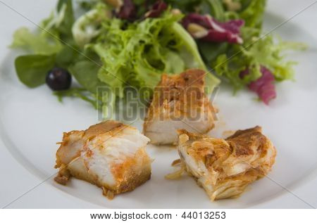 Dogfish Marinated With Salad, Detail