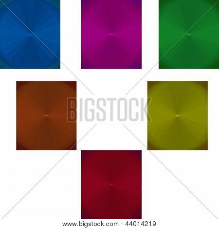 Muestra de fondos centricos abstractos de distintos colores