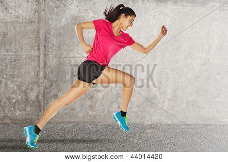 Sport Woman Starting Running