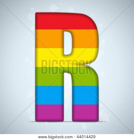 Gay Flag Shiny Glass Alphabet