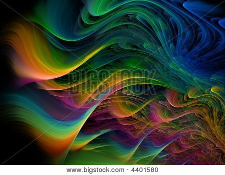 Fractal Multicolored Waves